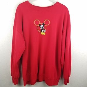 Vintage DISNEY Mickey Unlimited Red Sweater